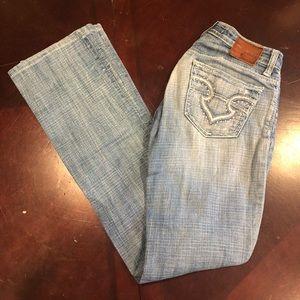 Big Star boot cut jeans ultra low rise 25L